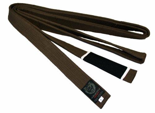 Okami Fight Gear - Cinturón para Jiu Jitsu Gi brasileño (300 cm), Color marrón