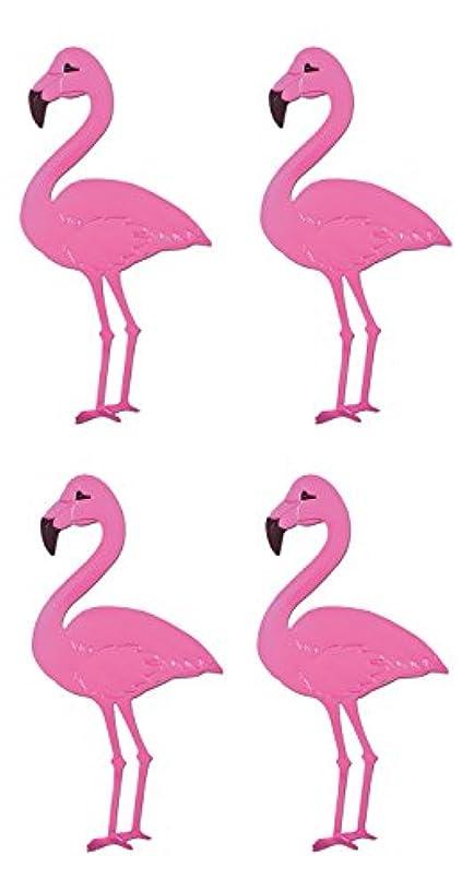 Beistle S55437AZ4, 4 Piece Foil Flamingo Silhouettes, 22