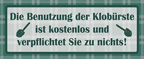 FS Hinweisschild Die Benutzung der Klobürste Blechschild Schild gewölbt Metal Sign 10 x 27 cm