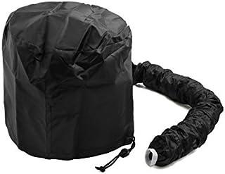 DealMux Preto Poliéster portátil Secagem Hair Styling macio Bonnet capa sopro Cap Ligação Secador