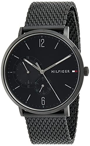 Tommy Hilfiger Herren Multi Zifferblatt Quarz Uhr mit Edelstahl Armband 1791507