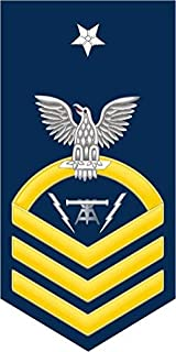 US Navy Senior Chief Gold E-8 Fire Controlman FC Military Veteran Served Window Bumper Sticker Vinyl Decal 3.8