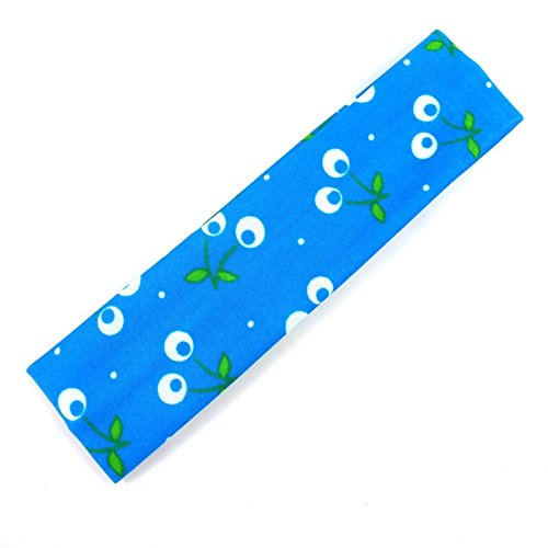 rougecaramel - Accessoires cheveux - Bandeau enfant motif cerise - bleu