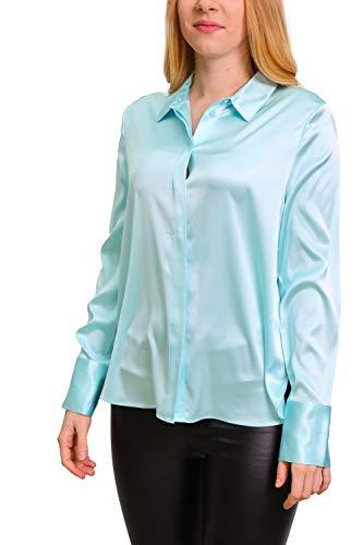 Herzensangelegenheit Damen Bluse aus Seide, Farbe:hellblau, Größe:36