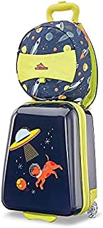 High Sierra Teddy Buddy 2 Piece Luggage Set with Wheels on Hard Rolling Suitcase & Carry Backpack Bag for Boy or Girl Todd...