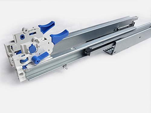 Schubladen Schiene Vollauszug 350 mm Tragkraft 40 kg Schubkasten Teleskopauszug mit Dämpfung und incl. Kupplung von Donati Farbe 4 Paar