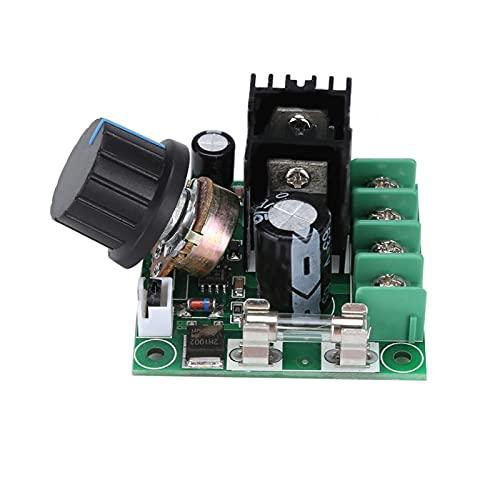 Controlador de velocidad del motor 9V-50V 10A Interruptor regulador de velocidad del motor PWM gobernador del motor para motor de cepillo de CC para ventilador de refrigeración