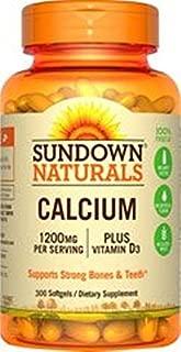 Sundown Naturals Calcium plus Vitamin D3 1200 mg per serving D3 600 Rapid Release Liquid Softgels Made in USA