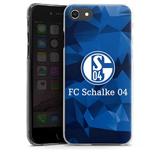 DeinDesign Hard Case kompatibel mit Apple iPhone 7 Schutzhülle transparent Smartphone Backcover FC Schalke 04 Muster Offizielles Lizenzprodukt