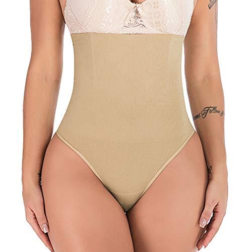Women's High Waist Thong Postpartum Underwear C-Section Recovery Briefs Panties, Nude, XL/2XL