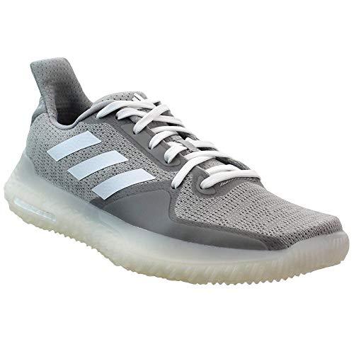 adidas Womens Fit Trainer, Grey/Coral/White, 7.5 Medium