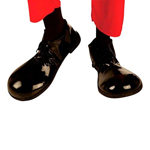 NET TOYS Chaussures Charlie Chaplin Chaussures de Clown Noires Chaussure de Clown Chaplin Chaussures Clown déguisement Accessoire