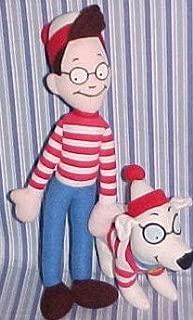 Where's WALDO & WOOF Dog Plush Set RARE