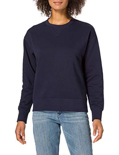 GANT Damen ORIGINAL C-Neck Sweat Sweatshirt, Evening Blue, XXL