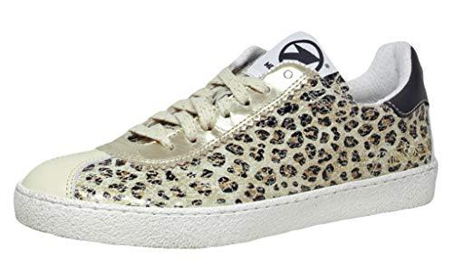Momino 3440N Mädchen Sneaker, Mehrfarbig (Softy Panna Cheetah), EU 39