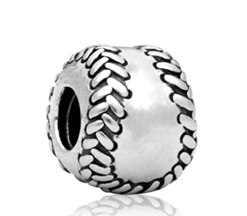 J&M Softball/Baseball Charm Bead for Charms Bracelets