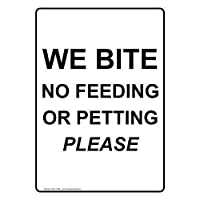垂直方向に私たちは食べていないまたはペッティングブリキサインサインサインヤード屋外サイン