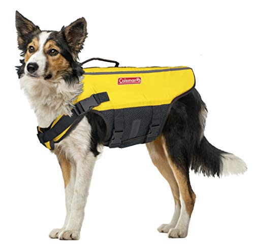 Coleman High Visibility Lifejacket for Small to Large Dogs Yellow Size Medium / 5\quot x 16\quot x 3\quot#039