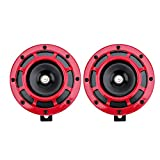 XXYHYQHJD Car Horn 12V Super Loud Compact Electric Blast Tone Horn Kit for Accesorios de...