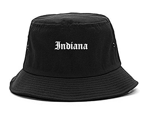 in Indiana State Old English Bucket Hat Black