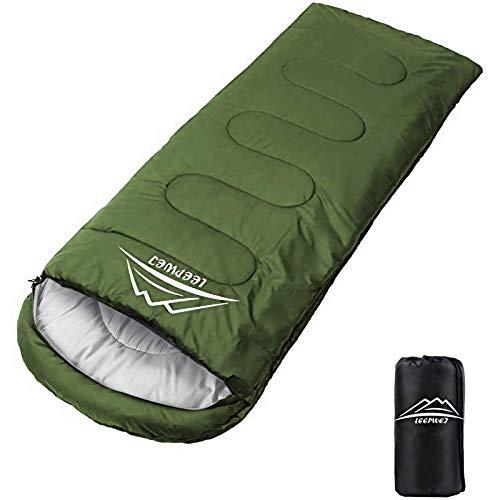 収納袋付きの寝袋