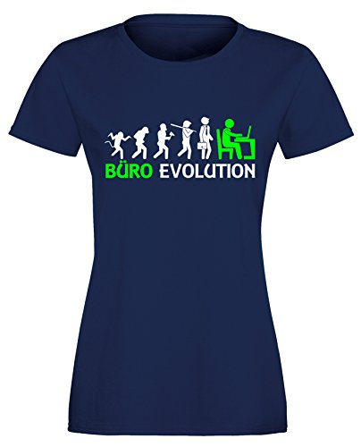 Büro Evolution - Damen Rundhals T-Shirt