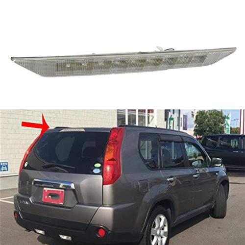 QIQIDIAN LED Bremsleuchte Hinten 3. Bremslicht Rückleuchte Zusatzbremsleuchte 3Rd High Level Bremslicht Kompatibel Mit N-Issan X-Trail T31 Xtrail 08-13,Weiß