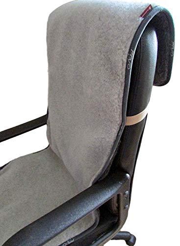 Sesselschoner, Bürostuhlunterlage, Sitzunterlage anthrazit/Silber 50x200cm, 100% Merinowolle