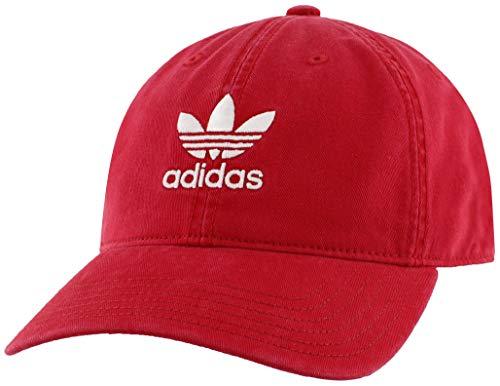 adidas para hombre Originals ajuste relajado gorra ajustable, talla única, Scarlet Red/White, Una talla