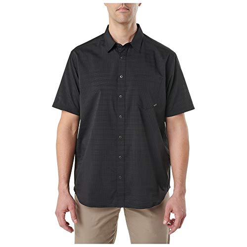 5.11 Tactical Series Chemisette Aerial Shirt légère Homme, Noir, FR : M (Taille Fabricant : M)