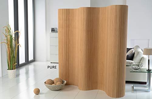 DE-COmmerce®l Doppelseitiger Bambus Paravent (BxH) 244 cm x 185 cm l Raumteiler l Trennwand l Faltwand l Shoji l Sichtschutz Pure
