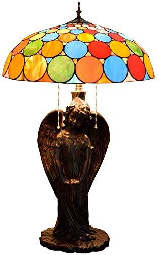 MARUA Tischlampe Wohnzimmer Tiffany Farbige Punkte Bunte Mehrfarbige Glas Schreibtischlampe Engel Lampenfassung Für Hotels Bars Restaurants Studie Wohnzimmer Schlafzimmer
