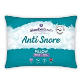 Slumberdown Anti Snore White Pillow Medium Support Designed for Back and Side Sleepers