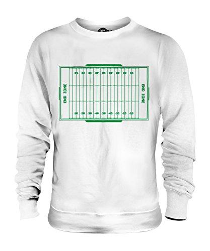 Candymix American Football Spielfeld Unisex Herren Damen Sweatshirt, Größe Large, Farbe Weiß