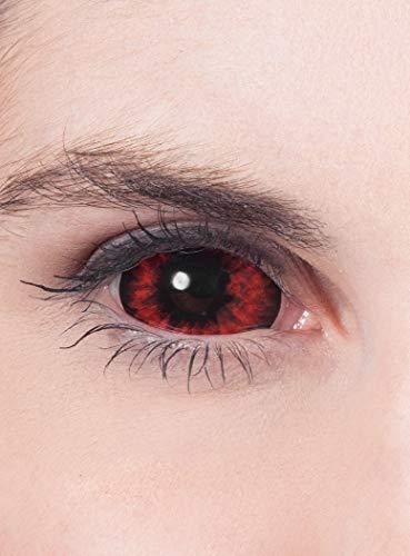 Maskworld - Sclera rot - farbige Kontaktlinsen / 6-Monats-Linsen - Motivlinsen ohne Sehstärke (22mm) - Unisex - Erwachsene - ideal für Halloween, Karneval, Motto- und Horror-Party