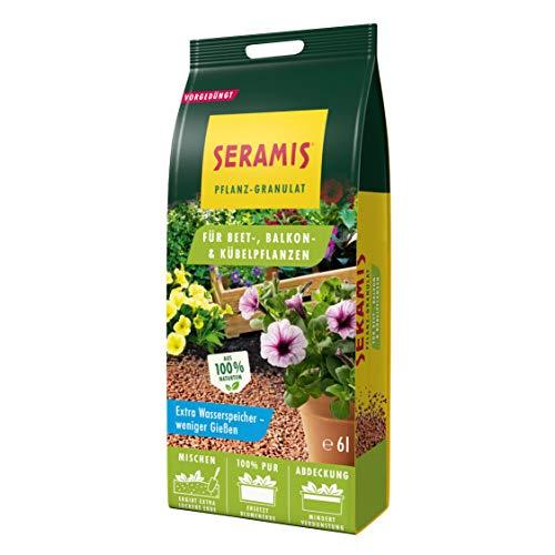 Seramis Pflanz-Granulat als Pflanzenerden-Ersatz für Beet-, Balkon- und Kübelpflanzen, Inkl. 4 Wochen Start Düngung, Ton-Farbe, 6 Liter