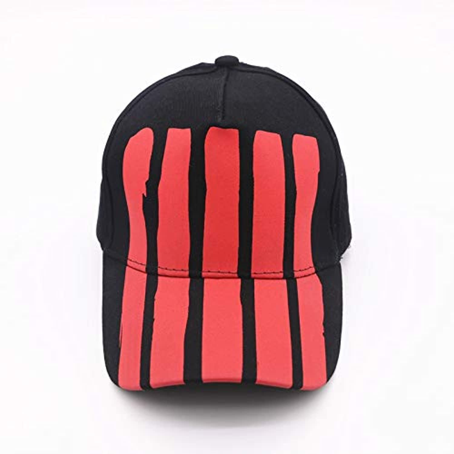 06dcb29d6 WLEZY Baseball Cap Men Women Striped red Black Adjustable Casual Baseball  Cap Snapback Unisex hat Sports