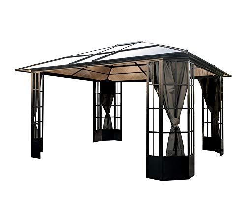 Preisvergleich Produktbild Sojag Aluminium Pavillon Savino 12x14 inkl. Moskitonetz 423x363 cm Gartenpavillon Unterstand