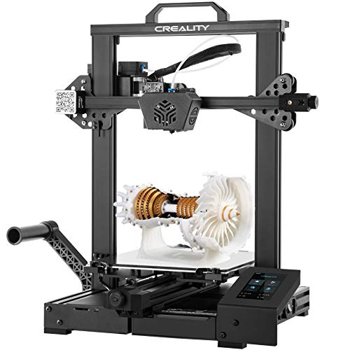 Official Creality CR-6 SE 3D printer free levelling (with an extra upgrade 32-bit silent motherboard), auto bed levelling, upgraded extruder, build volume 235 * 235 * 250mm