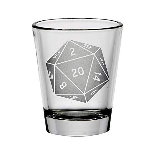D 20 Dice Shot Glass