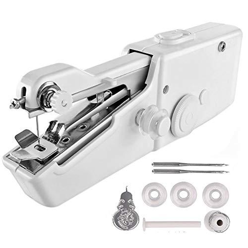 Honton Mini máquina de coser de mano portátil máquina de coser para viajeros adultos principiantes niños emergencia DIY y hogar