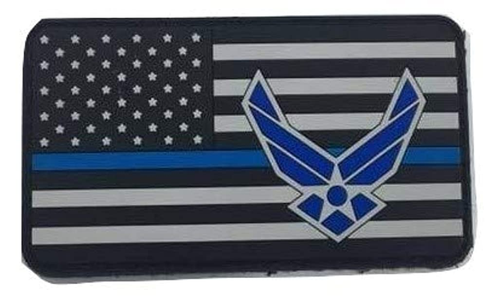 U.S. Air Force Flag Blue Line PVC Patch