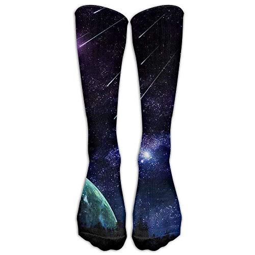 Amazing Meteor Shower Athletic Tube Stockings Women's Men's Classics Knee High Socks Sport Long Sock One Size 60cm