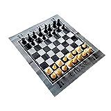 Ajedrez para jardín, exterior, con 32 figuras de ajedrez, gran campo de juego con diseño de tablero de ajedrez