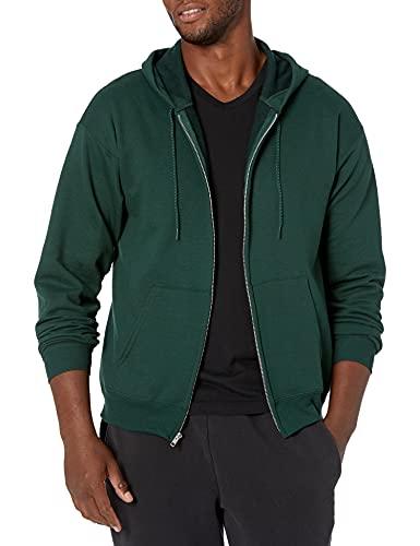 Hanes Men's Full-Zip Eco-Smart Hoodie, Deep Forest, X-Large