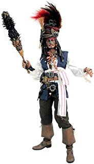 Hot Toys Movie Masterpiece - Pirates of the Caribbean Dead Man's Chest - Cannibal Jack Sparrow 1/6 Scale Action Figure