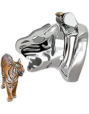 ZRB Castidad la Cabeza del Tigre Macho de Bloqueo Gallo jaulas de castidad Dispositivo de catéter del pene Bloqueo del Metal Gallo Hombres pene Virgen de Bloqueo