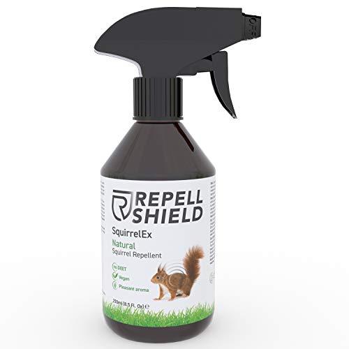 RepellShield Spray Repelente Ardillas - Ahuyentador de Roedores en Interiores y Exteriores - Spray Natural en Base a Aceite Escencial de Citronela y Tomillo - Ahuyentador de Ratones y Ardillas, 250ml