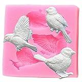 NMLB Sugarcraft Uccelli Stampo in Silicone Stampo per Fondente Attrezzi per Decorare Torte Candy Clay Stampi per Cioccolato Gumpaste Stampi per Sapone in Resina