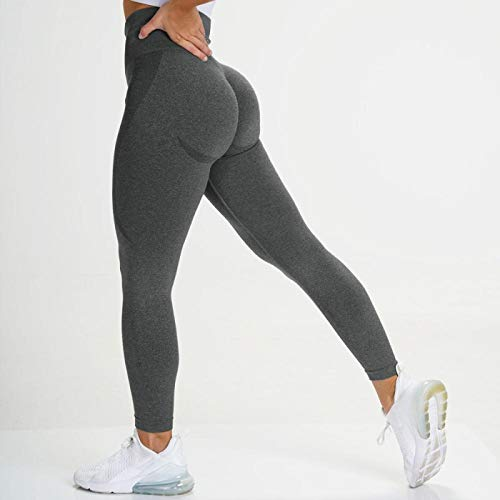 Leggings Pantalones Fitness Yoga Leggings Sin Costuras De Cintura Alta Push Up Legging Sport Mujer Fitness Running Yoga Pantalones Energy Elastic Tights Gym Girl Medias S Darkgray